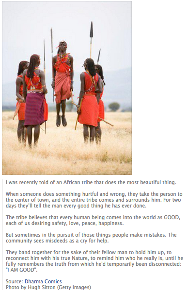 African Tribe practise forgiveness